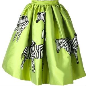Green Zebra skirt